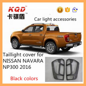 New Design Carbon Fiber Pickup Accessories Tail Rear Light Cover for Np300 Nissan Navara Body Kits Tail Lamp Cover Navara 4D