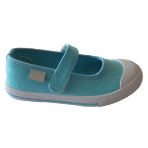 Best Quality Yellow/Colorful Hook & Loop Style Canvas Shoes for Kids pictures & photos