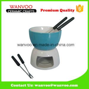 Hotsale Ceramic Chocolate Cheese Food Fondue Set pictures & photos