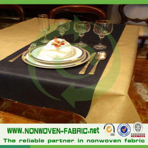 Waterproof TNT Nonwoven Fabric for Disposable Table Cloth pictures & photos