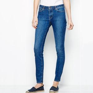 Women Long Trousers Skinny Pants Blue Denim Jeans pictures & photos