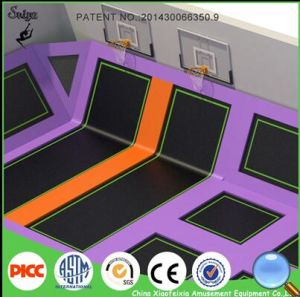 Professional Gymnastics Trampoline Outdoor Trampoline Park with Basketball Hoop pictures & photos