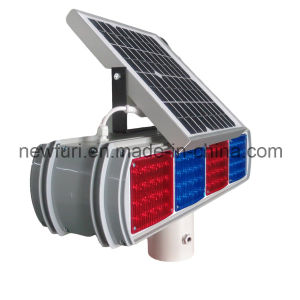 Blue Red LED Flashing Solar Traffic Warning Light pictures & photos