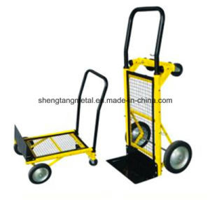Good Price Hot Sell Solied Wheel Fold Hand Truck Ht1500 pictures & photos