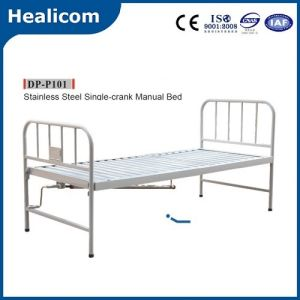 Single-Crank Stainless Steel Hospital Manual Bed pictures & photos