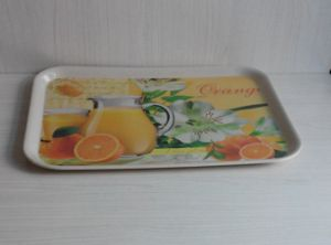 Eco Bamboo Fiber Serving Tray with Print (BC-TP1011) pictures & photos