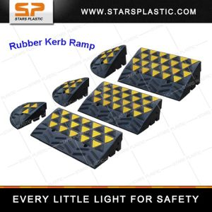 Kr-A27-up-1m Black & Yellow Small Rubber Road Car Kerb Ramps pictures & photos