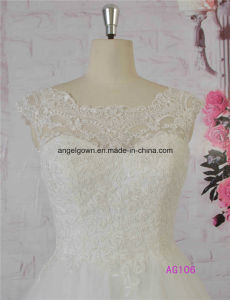 2016 Guangzhou French Lace A-Line Wedding Dress Bridal Gown pictures & photos