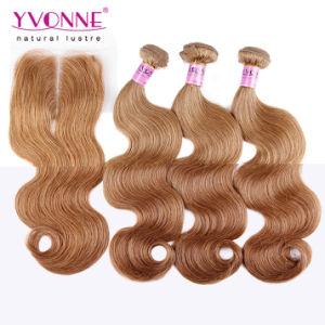 Color #8 Brazilian Hair Bundles with Lace Closure pictures & photos