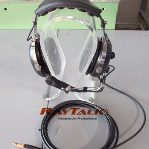 Ground Support Headset with Noisy Cancelling Boom Mic pictures & photos
