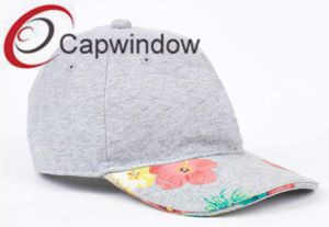 Beige Fabric with Printed Visor Fashion Leisure Baseball Cap pictures & photos