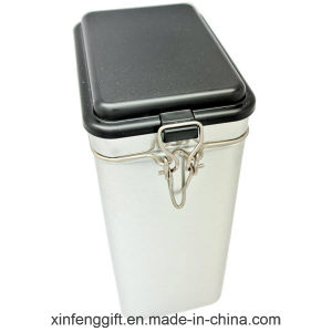 Storage Tea Tin Box with Plastic Sealing Lid pictures & photos
