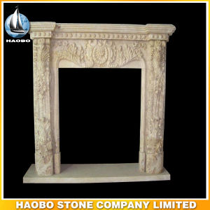 Antique Fireplace Surround Customized Hand Carved Details pictures & photos
