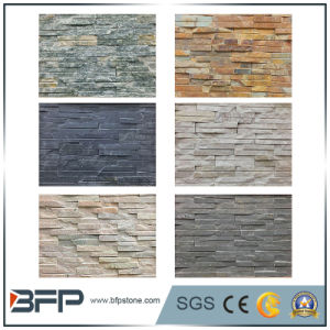 White Natural Quartz Slate Ledge Stone for Wall Panels pictures & photos