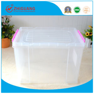 Top Quality Transparent 20L Plastic Storage Box Household Storage Case for Food Clothes Toys pictures & photos