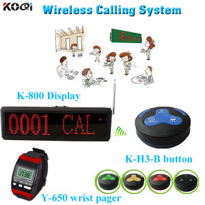 Guest Paging System Competitive Price Wireless Paging Kitchen K-800+Y-650+H3-B pictures & photos