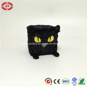 Black Cat Plush Square Soft Stuffed with Sponge Kids Toy pictures & photos