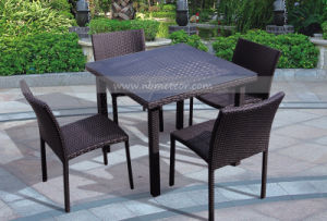 Mtc-197 Wicker Furniture PE Rattan Dining Table Set pictures & photos