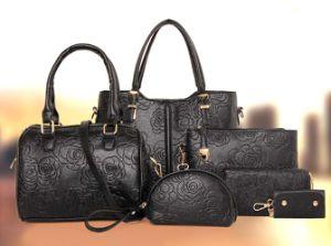 Simple Deisgner 6PCS Set Bag Women Fashion Leather Handbag (XM0243) pictures & photos