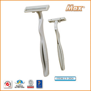 Hot Twin Stainless Steel Blade Disposable Shaving Razor (LY-2026) pictures & photos