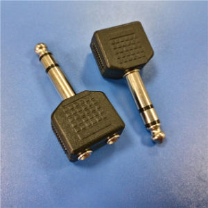 6.3mm Stereo Male to 2*3.5mm Stereo Female a/V Connector (A-029) pictures & photos