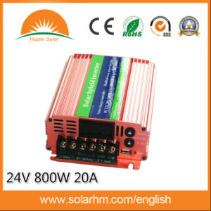 (HM-12-800-N) 12V800W Solar Hybrid Inverter with 20A Controller pictures & photos