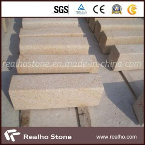 Golden Yellow G682 Granite Kerb Stone