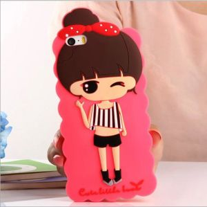 Cute 3D Cartoon Soft Silicone Design Rubber Case Cover for iPhone 4/4s, Fashional Rubber Case, High Quality Protective Phone Case
