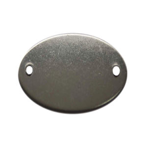 Oval Stainless Steel Blank Tag (20Y557)