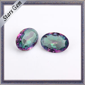 Oval 4X6mm Clear Rainbow Color Crystal Glass Gemstone pictures & photos