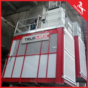 Double Cage Ce Approved Painting Mast Section Building Hoist