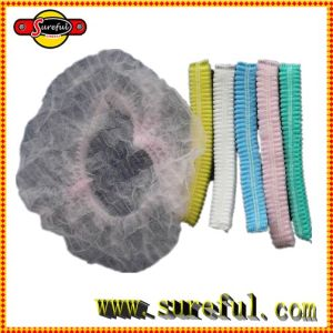 High Quality Disposable Elasticated Mob Cap 100PCS Packed in Polybag Salon Disposable Cape Disposable Surgical Caps pictures & photos