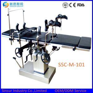 Best Selling Qualified Fluoroscopic Hospital Manual Multi-Function Operating Surgical Table pictures & photos