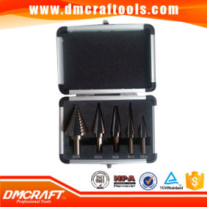 5PCS HSS Step Drill Bit Set Tools W/ Aluminum Case pictures & photos