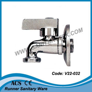 Chrome Bibcock Tap with Rosette (V20-032) pictures & photos
