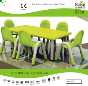 Kaiqi Children′s Table and Chairs - Rectangle Shape - Many Colours Available (KQ10183D) pictures & photos
