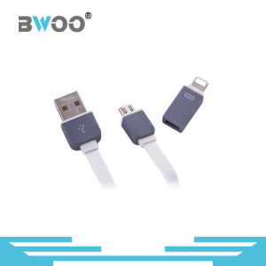 Flexible 2 in 1 Lightning Micro USB Data Cable pictures & photos
