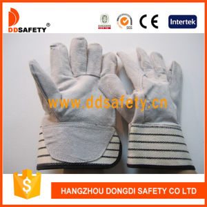 Ddsafety 2017 Cow Split Leather Gloves with Rubberized Cuff pictures & photos