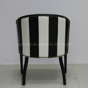 Antique Retro Black Stripe Leather Tub Chair (SP-HC083) pictures & photos