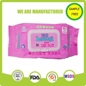 Spunlace Nonwoven Material Natural Baby Care Wet Wipes pictures & photos