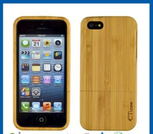 Natural Handmade Wooden Bamboo Case for iPhone 5s pictures & photos