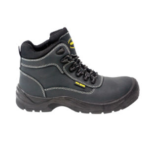Nubuck Leather & Oxford Fabric Safety Shoes with Mesh Lining (HQ03029) pictures & photos