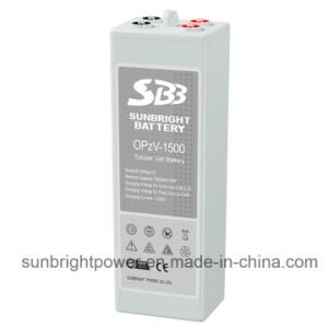 2V1500ah Solar Telecom Long Deep Cycle Gel Opzv Battery pictures & photos