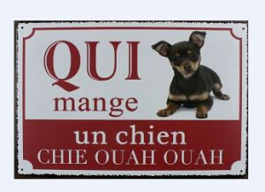 Popular Craft Warning Metal Dog Sign Plaque Wall Art pictures & photos
