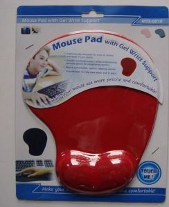 Red Gel Mouse Pad with Blister/Card Package