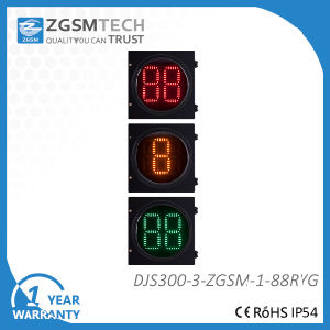 Traffic Counterdown Timer 2 Digital Red Yellow Green 3 Colors Dia. 300mm pictures & photos