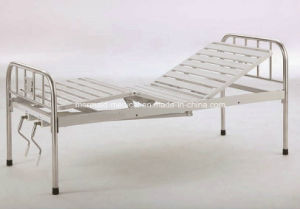 Movable Semi-Fowler Hospital Bed with Stainless Steel Head/Foot Board B-29 Ecom52 pictures & photos