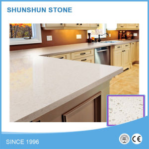 White Artificial Stone Engineered Quartz Countertop for Kitchen/Hotel pictures & photos