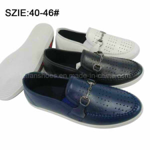 New Style Men′s Slip on Breathable Casual Leather Shoes (MP16721-14) pictures & photos