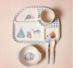 (BC-CS1073) High Quality Eco Bamboo Fiber Dinner Set for Kids pictures & photos